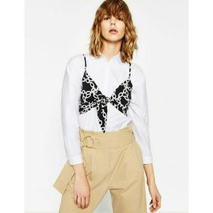 Zara Woman Printed Cropped Top